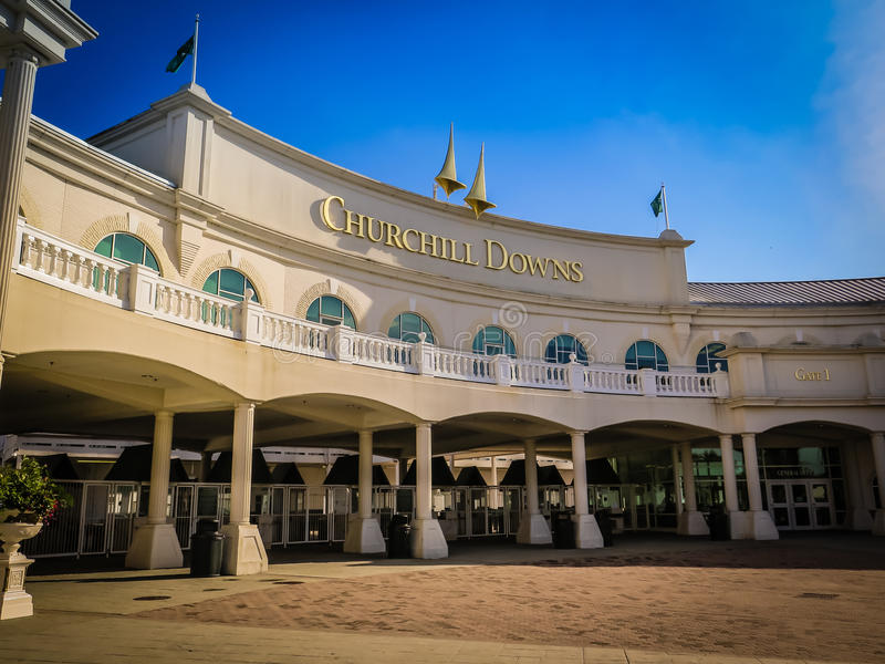 Churchill Downs Kentucky Derby Entrance stock photography