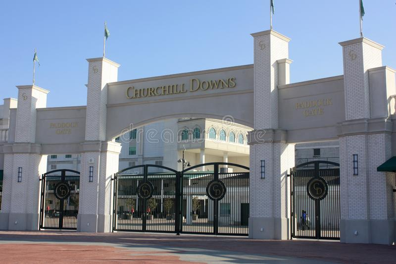 Churchill Downs, Louisville, KY stock images