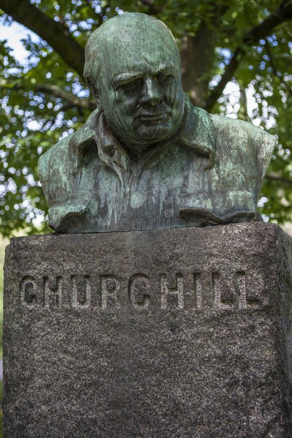 Churchill popiersie w Kopenhaga zdjęcie royalty free