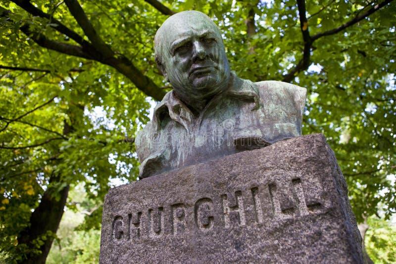 Churchill popiersie w Kopenhaga obraz royalty free