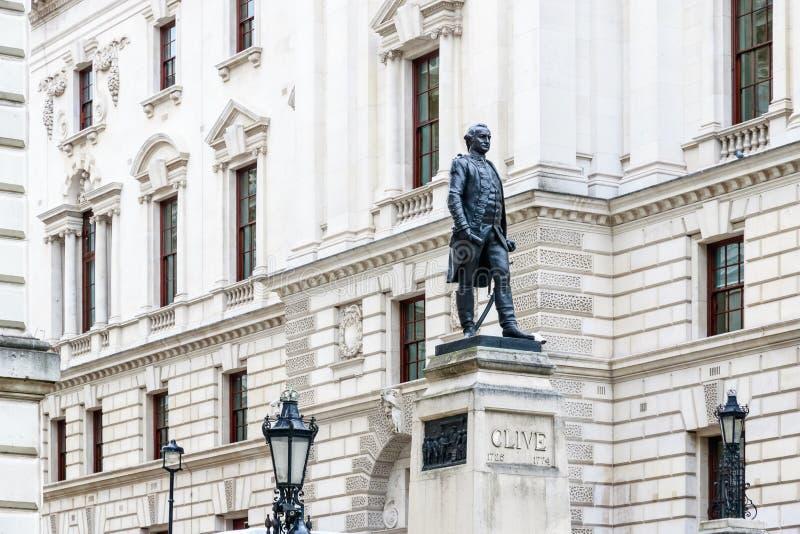 Churchill Wojenni pokoje i Robert Clive pomnik w Londyn zdjęcia stock