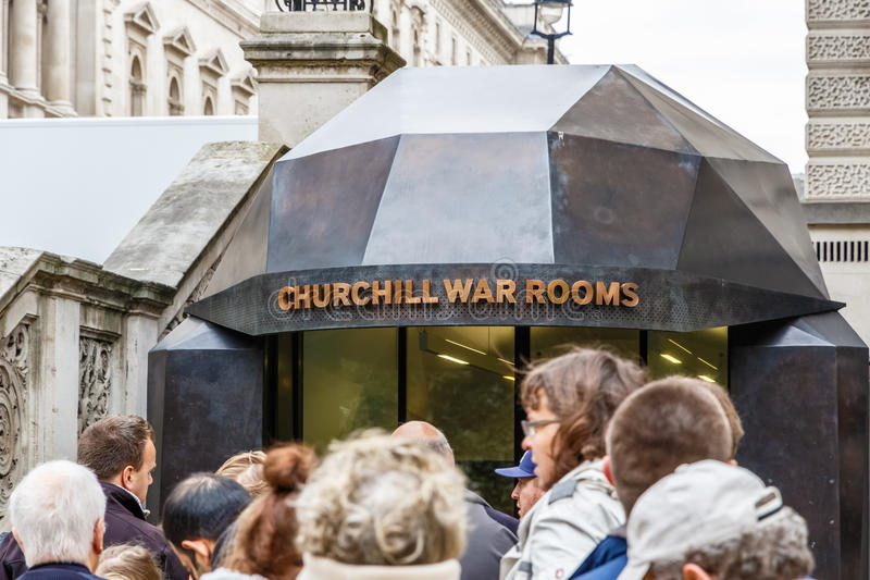 Churchill Wojenni pokoje w Londyn obraz royalty free