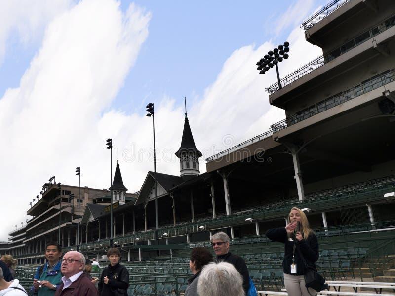 Churchill Zestrzela do domu kentucky derby w Louisville usa obrazy royalty free