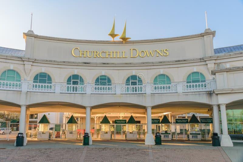 Churchill Zestrzela wejście - kentucky derby fotografia stock