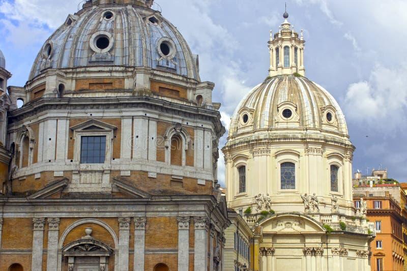 Churchs em Roma, Itália imagem de stock royalty free