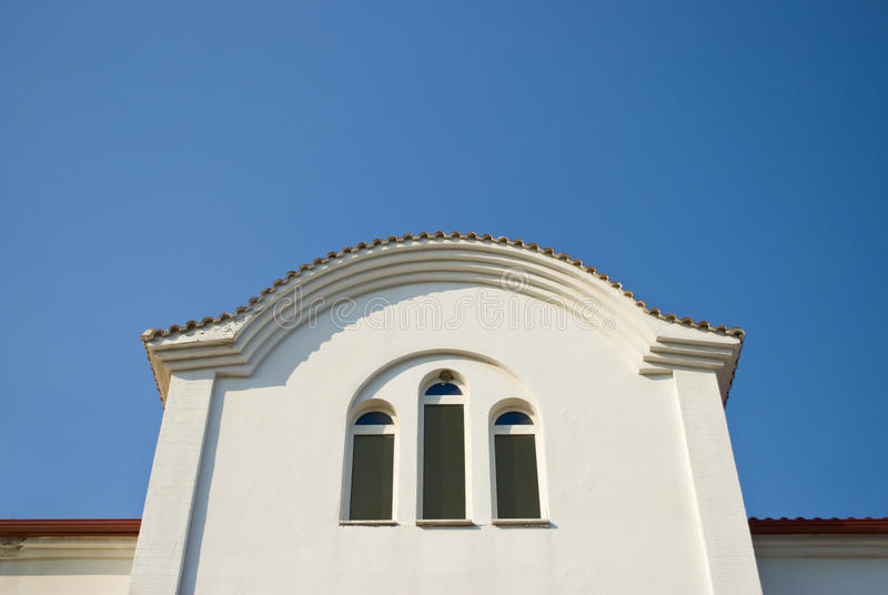 Download White Church Window Against Blue Sky Stock Photo - Image: 26601632