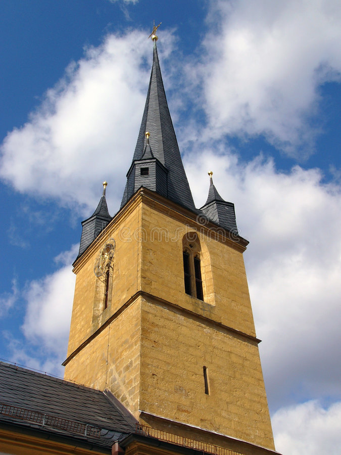 Churchtower stock afbeeldingen
