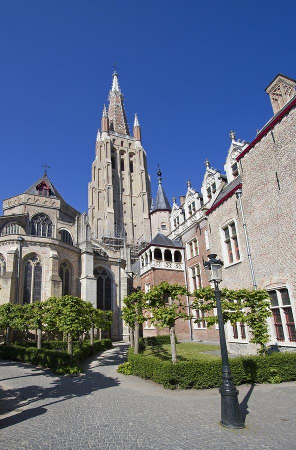 Churchtower de Bruges, Belgique image stock