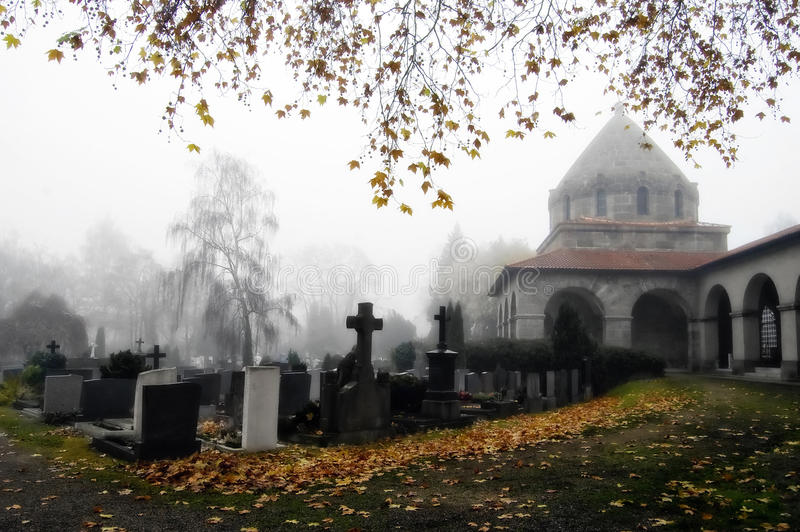 Churchyard Dreams stock photo