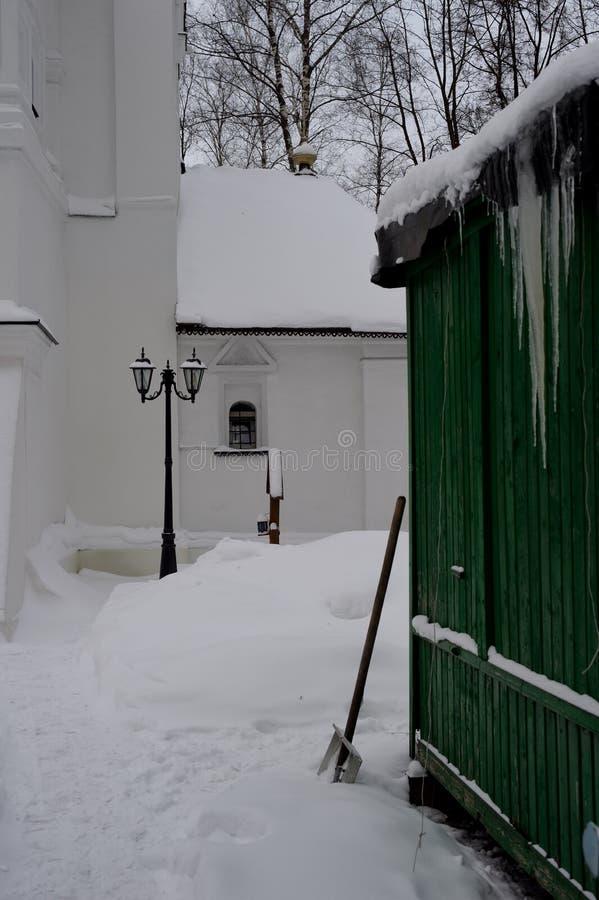 The churchyard spring stock image