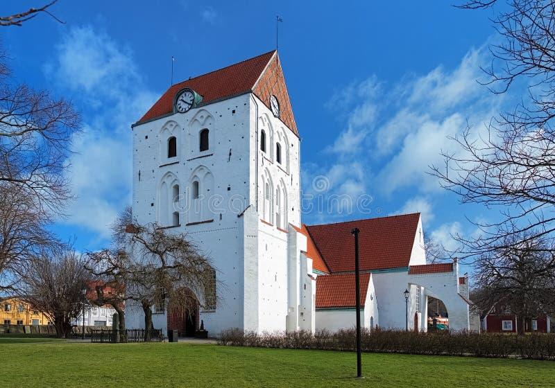 Churh de la cruz santa en Ronneby, Suecia fotografía de archivo