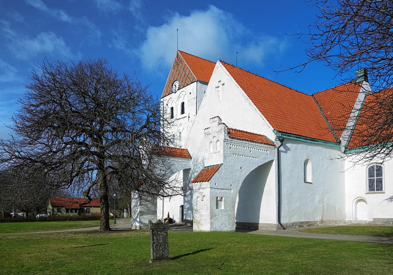 Churh of the Holy Cross in Ronneby, Sweden. Churh of the Holy Cross in Ronneby, Blekinge County, Sweden royalty free stock photo