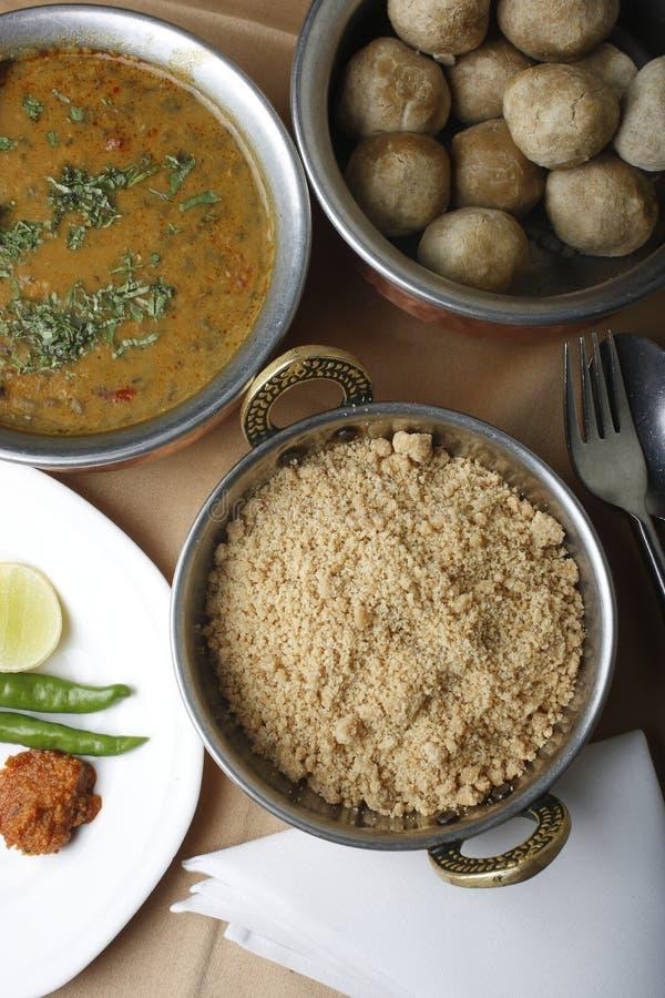 Churma -从印度的地面麦子盘 免版税库存照片