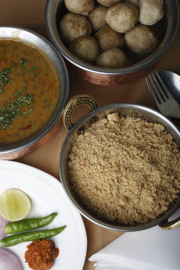 Churma - piatto a terra del grano dall'India immagini stock libere da diritti