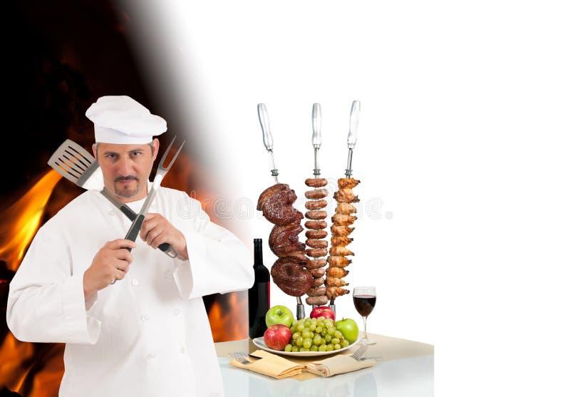 Churrascaria厨师 免版税库存照片