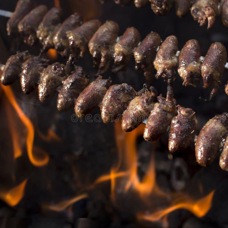 Churrasco de Curaçau, alimento brasileiro tradicional fotografia de stock