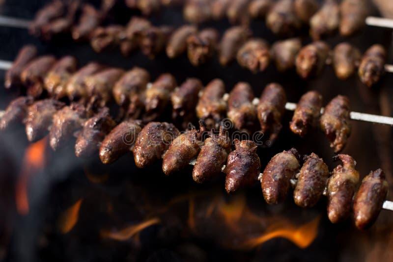 Churrasco de Curaçau; , alimento brasileiro tradicional imagem de stock royalty free