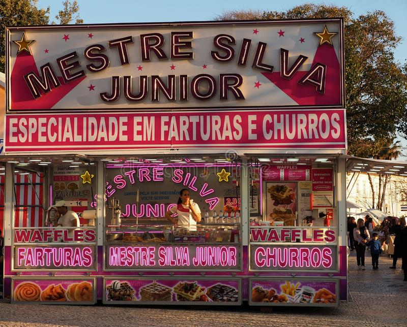 Churro stojak W Faro Portugalia obraz stock