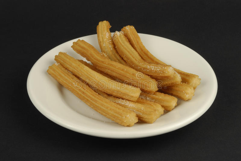 Download Churros stock image. Image of doughnut, fried, food, plate - 28303455