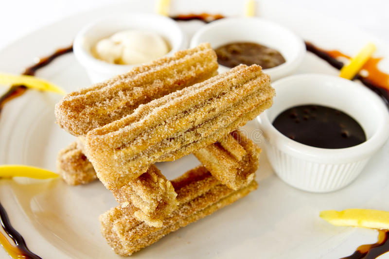 Churros stock afbeelding