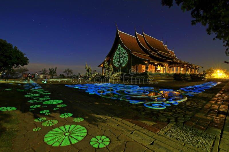 Churt budista na província Tailândia de Ubonratchathani foto de stock royalty free