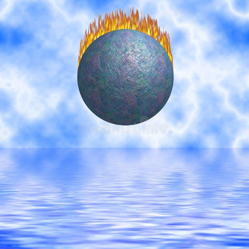 Chute brûlante de comète illustration libre de droits