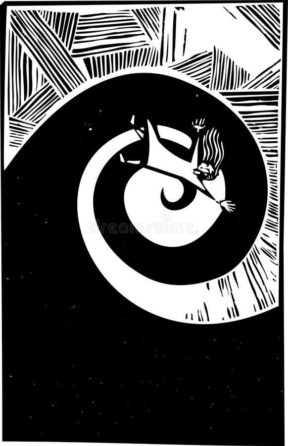 Chute dans la spirale illustration de vecteur