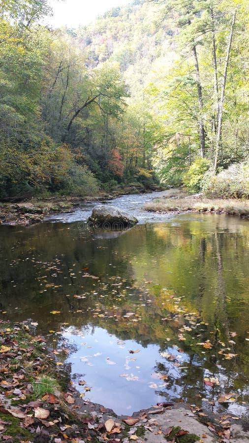 Chute de Beatutiful sur la rivière de Chatooga photo stock