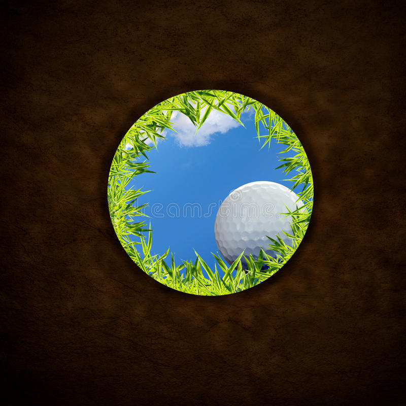 Chute de bille de golf images libres de droits