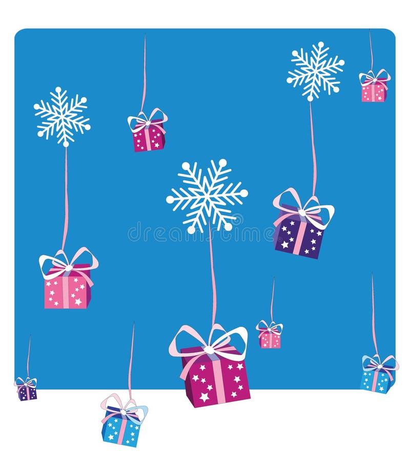 Chute de cadeaux de Noël photographie stock libre de droits