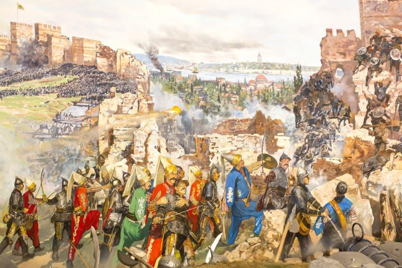 Chute de Constantinople image stock