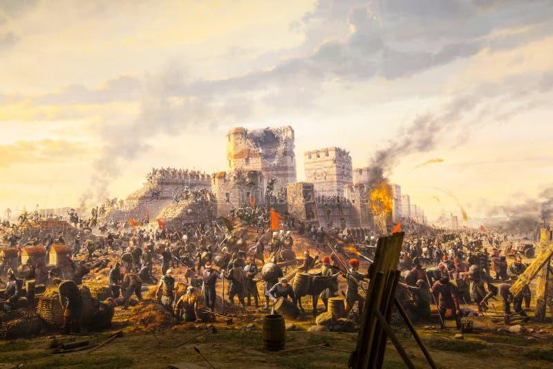 Chute de Constantinople en 1453 photo stock