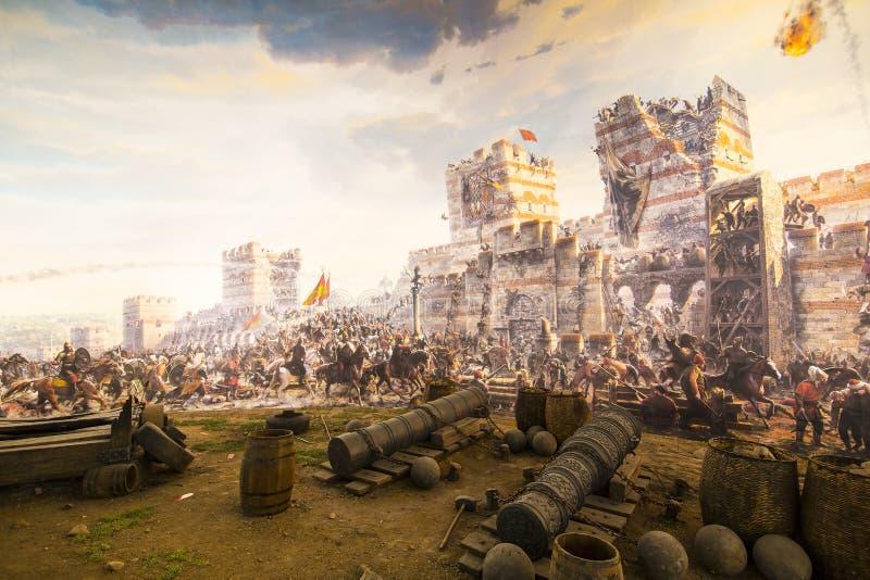 Chute de Constantinople en 1453 image libre de droits