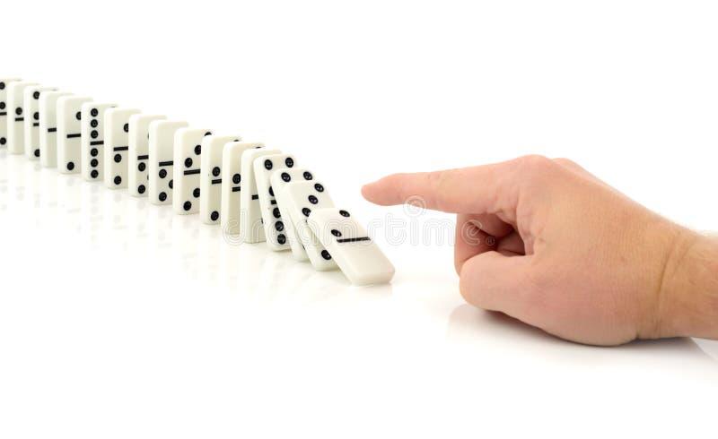 Chute de domino images stock