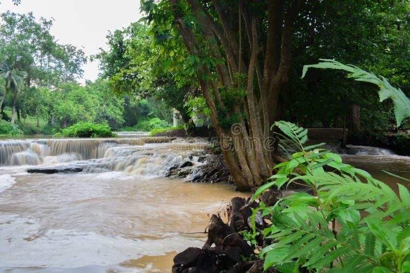 Chute de l'eau dans le saraburi, Thaïlande image stock