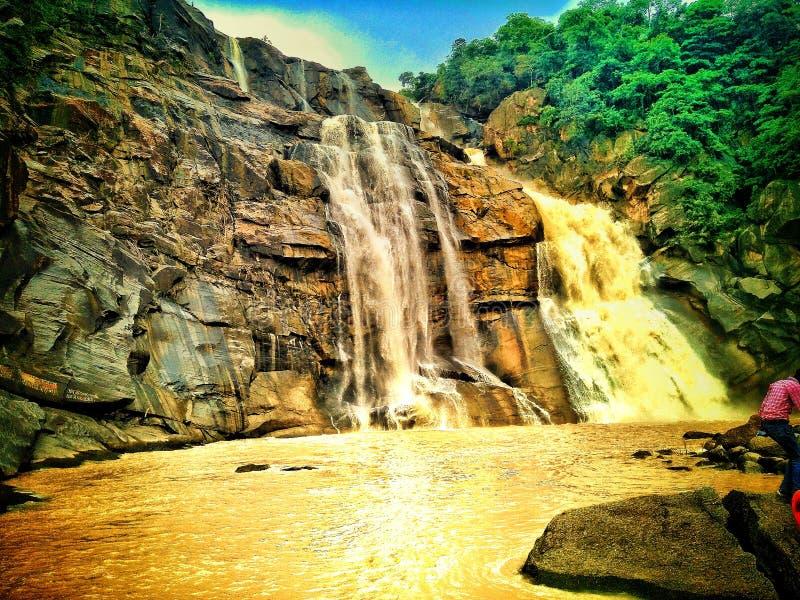 Chute de l'eau de Hundaru à Ranchi Jharkhand images stock