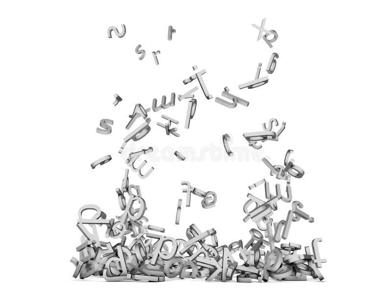 Chute de lettres illustration de vecteur