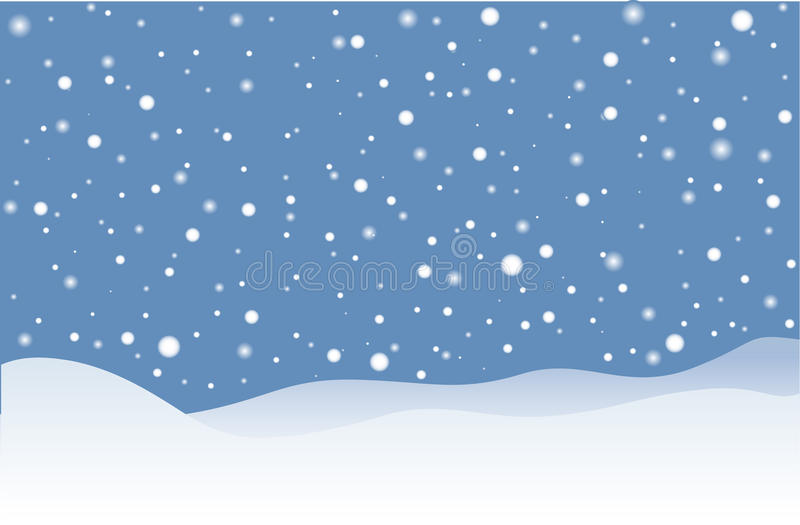 Chute de neige illustration stock