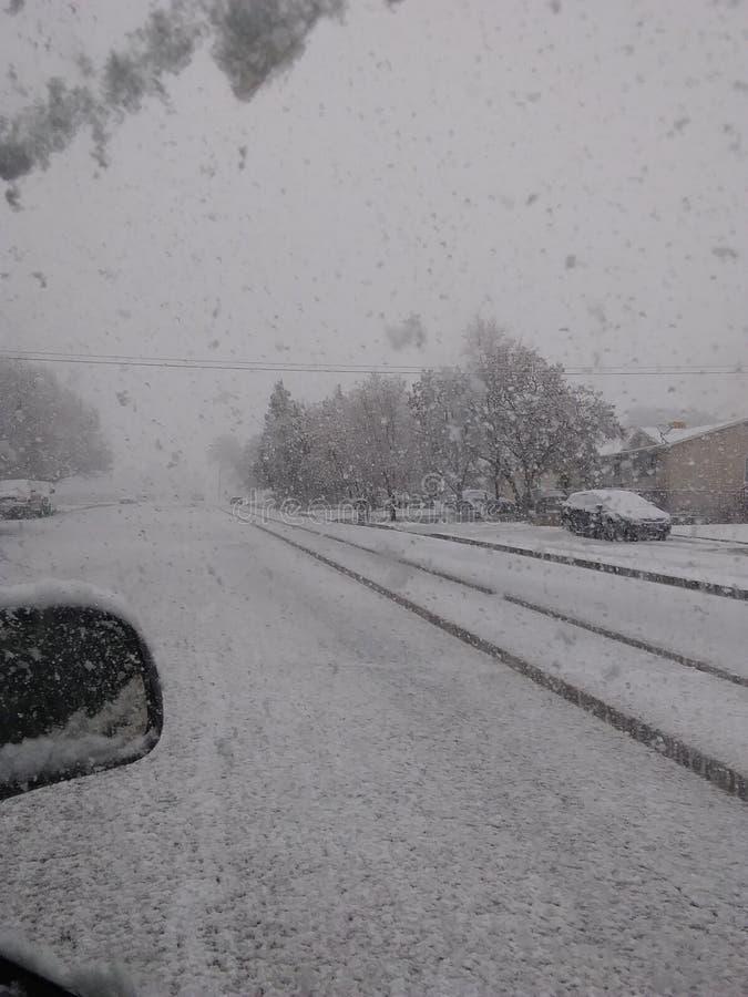 Chute de neige en février photos libres de droits