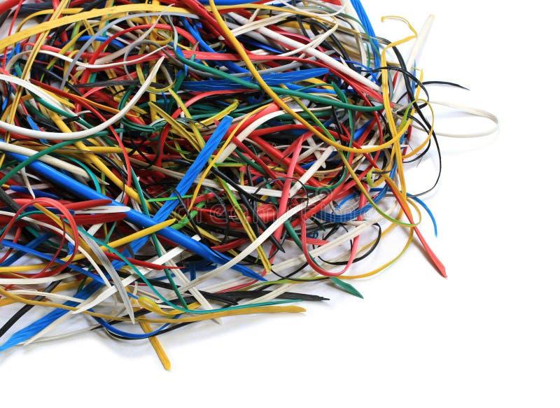Chute de PVC de fil électrique photographie stock libre de droits