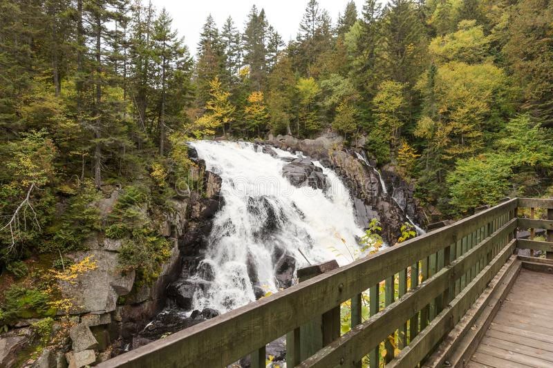Chute du Diable. Waterfall in Mont Tremblant National Park. Canada stock photo
