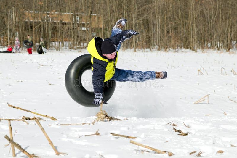 Chute tube de neige photos stock