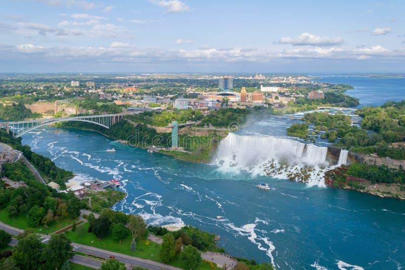 Chutes américaines, chutes du Niagara, Etats-Unis image stock
