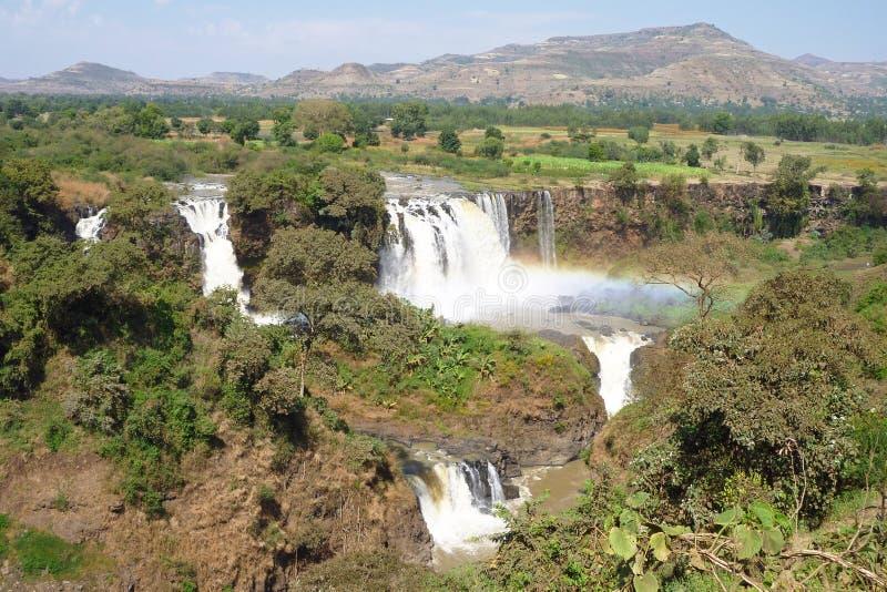 Chutes bleues du Nil, Bahar Dar, Ethiopie photo libre de droits
