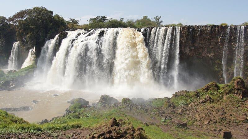 Chutes bleues du Nil, Bahar Dar, Ethiopie image libre de droits