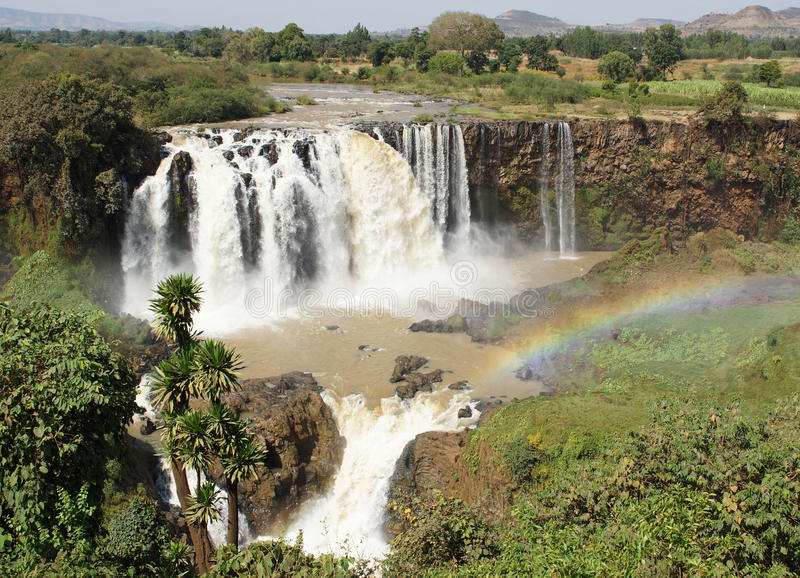 Chutes bleues du Nil, Bahar Dar, Ethiopie image stock