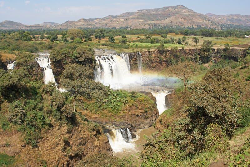 Chutes bleues du Nil, Bahar Dar, Ethiopie photographie stock