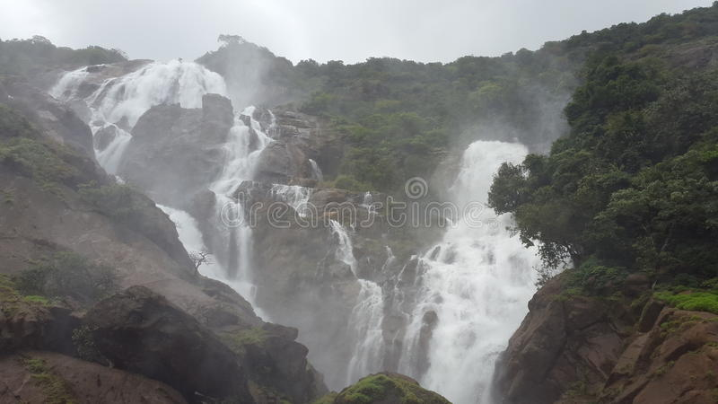 Chutes de Dudhsagar photo libre de droits