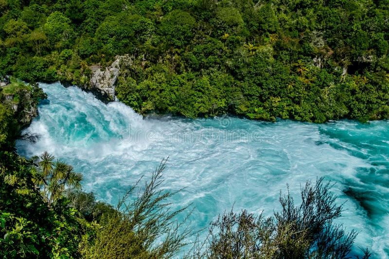 CHUTES de HUKA - Taupo, Nouvelle-Zélande image libre de droits