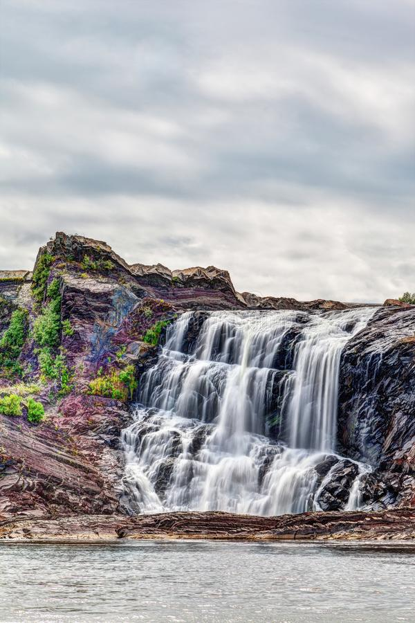 Chutes de la Chaudiere in Levis, Quebec, Canada. Chutes-de-la-Chaudiere or Chaudiere Falls are 35-meter high waterfalls in Levis, Quebec, that are the last and royalty free stock images